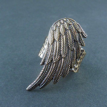 Angel Wing Ring - Bronze Wing Ring