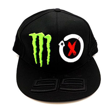 Jorge Lorenzo 99 Monster Energy Moto GP Flat Peak Cap Official New