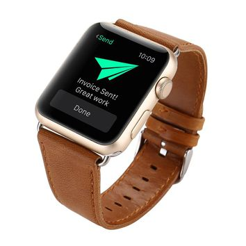 Hot! 2017 Leather Buckle Wrist Watch Band Strap Horses Belt for Watch Apple Watch 38mm Y7811