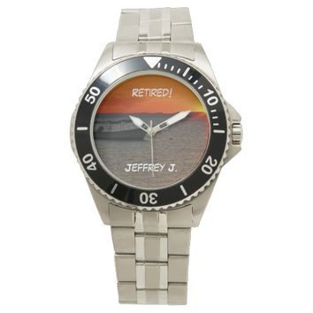 Retired! Wrist Watch Fishing Boat, Stainless Steel