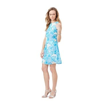Dempsey Dress in Blue Hibiscus Print by Julie Brown - FINAL SALE