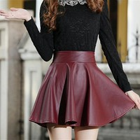 Vintage Faux Leather Skirts