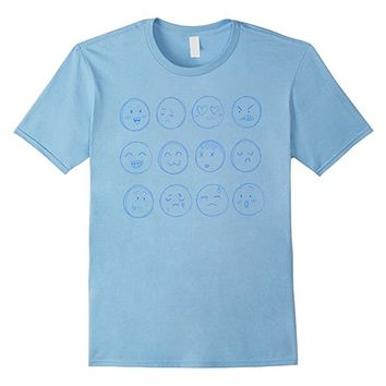 Sketchy Smiley Emoticons Emoji shirt