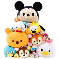 Hot Sale 27 styles Mini TSUM TSUM Cartoon Minnie Mickey Lady Animal Stuffed Plush Toys Girls Gifts Phone Bag Decoration