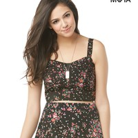 FLORAL BUSTIER TOP