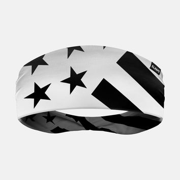 Tactical White USA Flag Headband