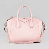 Givenchy Antigona Small Sugar Goatskin Satchel Bag, Light Pink