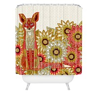 Sharon Turner Garden Fox Shower Curtain