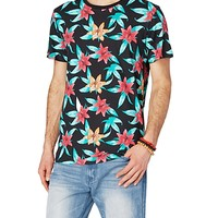 Coral Tropical Flower Tee