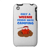 Weenies Hate Camping Case For The Iphone 3 from Zazzle.com