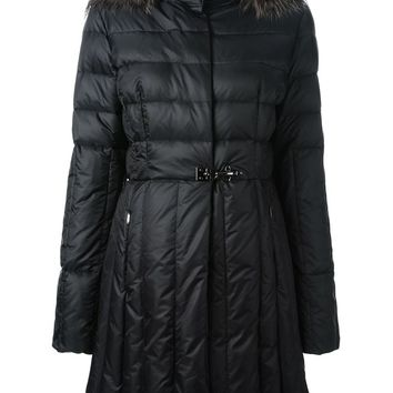 Fay faux-fur trimmed hood padded coat
