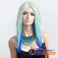 "18"" long Straight without Bangs Synthetic Wigs for Women Basic Cap Colorful"