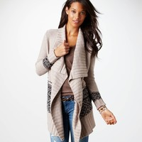 AE Draped Waterfall Cardigan | American Eagle Outfitters