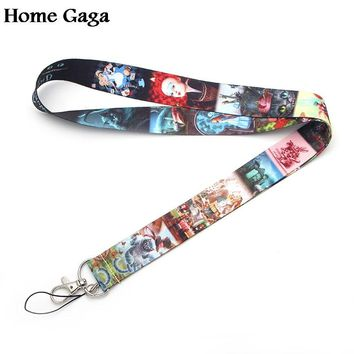 D0305 Homegaga Alice in Wonderland Tags Strap Neck Lanyards for key-ID Card Pass Gym Mobile Phone USB badge holder DIY Hang Rope