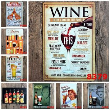 1 Pcs Metal Poster Wall Hanging Decor Bar Decor Tin Sign Cafe Home Decorations Gift