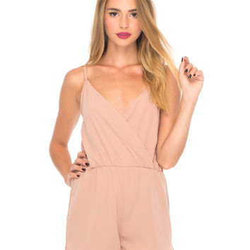 Ishe Strappy Playsuit in Blush by Motel