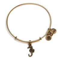 Alex and Ani Seahorse Charm Bangle Bracelet - Rafaelian Gold Finish