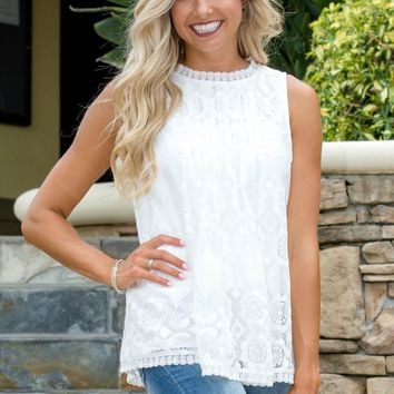 Hometown Girl White Lace Top Shop Simply Me Boutique Shop SMB – Simply Me Boutique