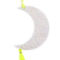 Glitter Moon Ornament