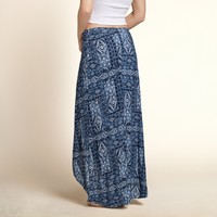 Harbor Beach Wrap Maxi Skirt