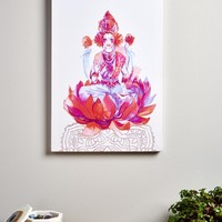 Floral God Canvas Art