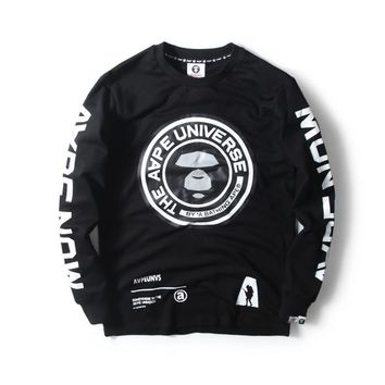 hcxx AAPE '' The AAPE Universe '' Round Logo Thin Sweater