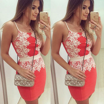 2016 Women Sexy Summer Dress Casual Sleeveless Evening Party Beach Dress Short Mini Dress vestidos