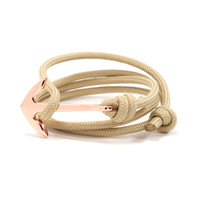 Copper Anchor on Tan Rope