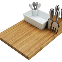 Cutting Board & Tools Set, Natural, Cheese Boards & Cheese Board Sets