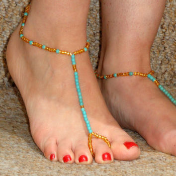 Cute Shiny Gift New Arrival Sexy Jewelry Ladies Simple Design Stylish Gold Blue Stretch Anklet [6768805767]