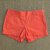 "J Crew Chino 3"" Shorts in Tangerine Orange 4 NWT"