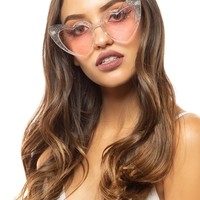 Heart Sunglasses in Opal Dust