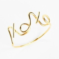South Sun 'XOXO' Wire Word Ring (Juniors) | Nordstrom