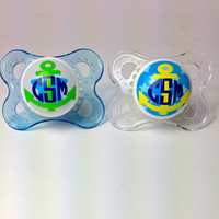Anchor Monogrammed Mam Pacifiers