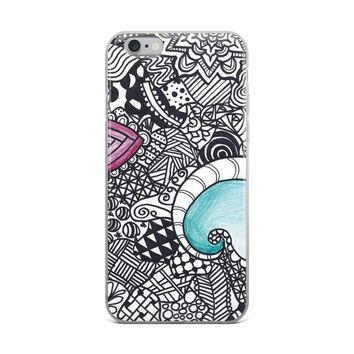 zentangle iPhone Case