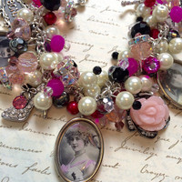 French Show Girl Beaded Charm Bracelet