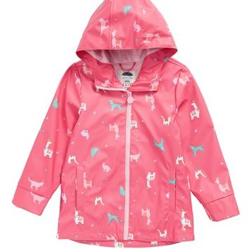 Joules Print Rain Jacket (Toddler Girls & Little Girls) | Nordstrom