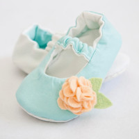 Make it Reversible: Solid Colors for Mary Jane stye baby girl shoes with snap on interchangeable embellishments