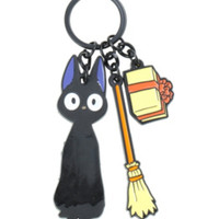 Kiki's Delivery Service Jiji Three Charm Key Chain