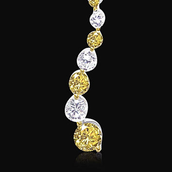Yellow canary journey 2 carat Diamonds earrings pair gold