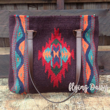 Luyu Southwest Wool Tote Bag
