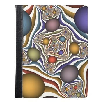 Flying Up, Colorful, Modern, Abstract Fractal Art iPad Case