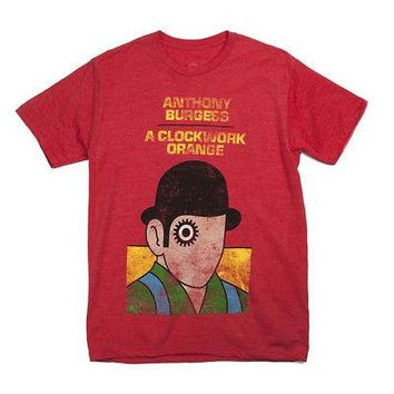 Out Of Print A Clockwork Orange Cover Art Authentic Adult T-Shirt - Red - XL