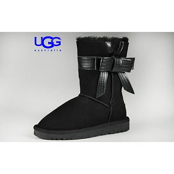 UGG stylish casual lady's wool boots are hot sellers with side bow UGG boots #3