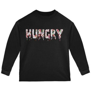 DCCKU3R Halloween Hungry Zombie Pattern Toddler Long Sleeve T Shirt