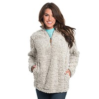 Heather Sherpa Pullover with Pockets in Mystic by The Southern Shirt Co. - FINAL SALE