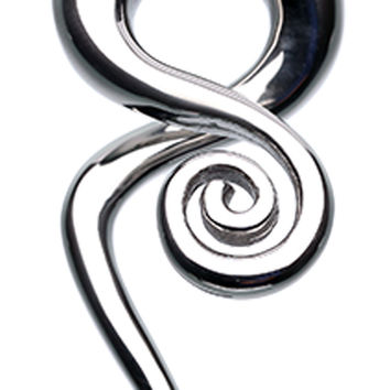 Loving Swirls 316L Surgical Steel Ear Gauge Spiral Hanging Taper