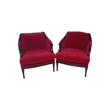 Pre-owned Vintage Mohair Club Chairs - A Pair