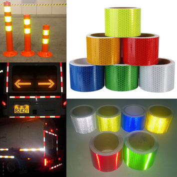 5cm×3m Safety Caution Reflective Tape Warning Tape Sticker Self Adhesive Tape