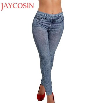 2016 New Fashion Jeans Women Pencil Pants High Waist Jeans Slim Elastic Skinny Pants Trousers Fit Lady Bodycon Jeans